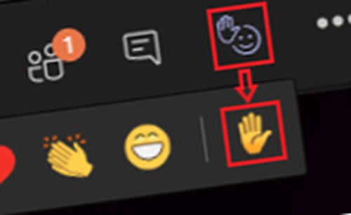 Thumbnail-Teams Tips raise hand icon bar