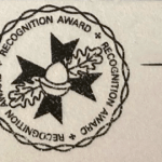 Recognition card stamp