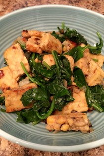 When Times Get Tough: Simple Sautéed Spinach and Tempeh