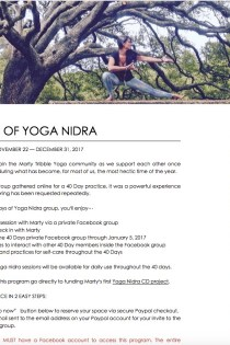 40 Days of Yoga Nidra