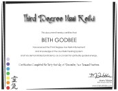 BethGodbee -- Reiki 3 Certificate