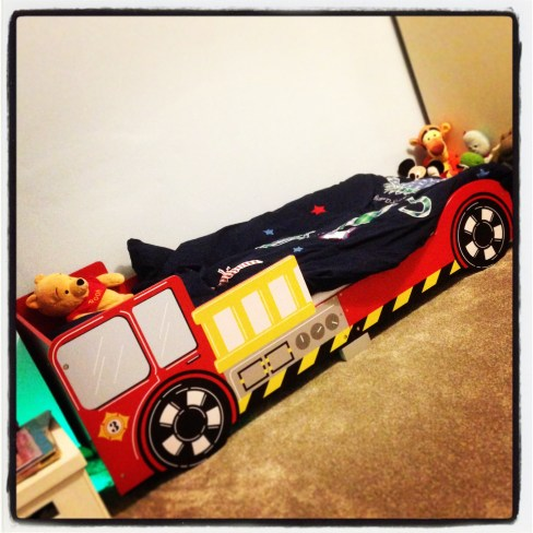 The fire engine bed!