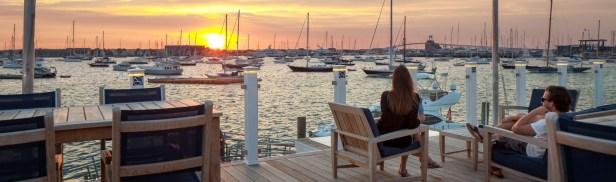newport-yachting-center-ri-sunsetcouple
