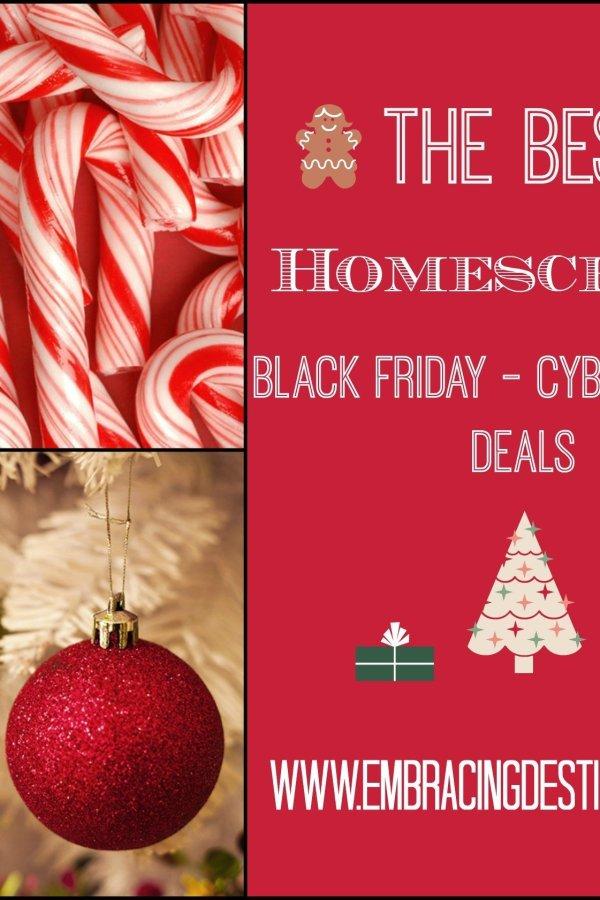 The Best Homeschool Black Friday through Cyber Monday Deals