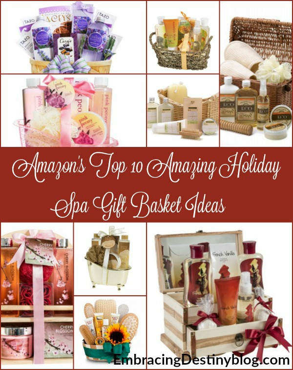 Christmas spa gift basket ideas