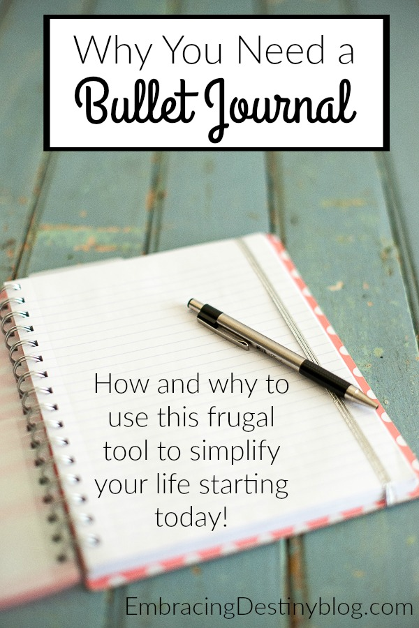 How and why to use a bullet journal to simplify your life! Great for those who love to plan -- and those who hate to but need to keep records and get organized. heartandsoulhomeschooling.com