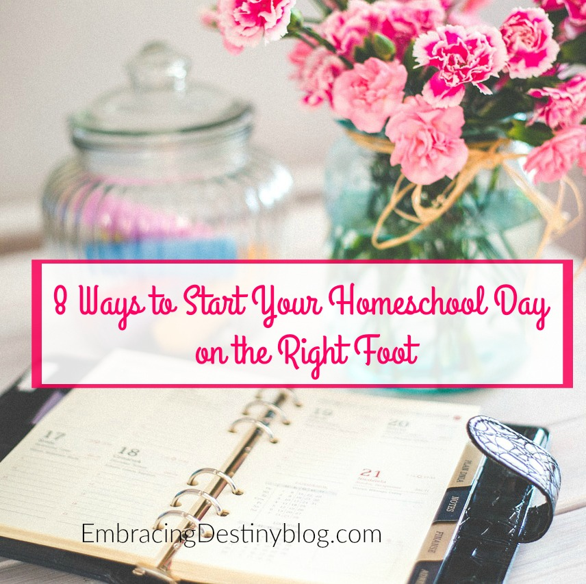 Need to reboot your morning routine? Try these 8 ways to get your homeschool day started off on the right foot. heartandsoulhomeschooling.com