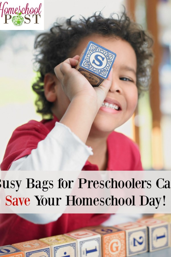 Busy Bags for Preschoolers Can Save Your Homeschool Day