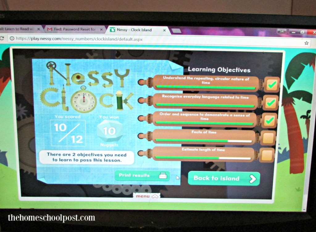 Nessy clock | homeschool review