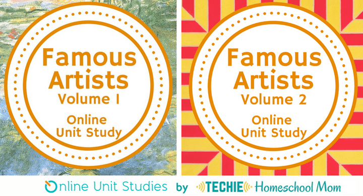 Famous Artists Bundle Online Unit Studies