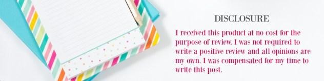 blog review disclosure