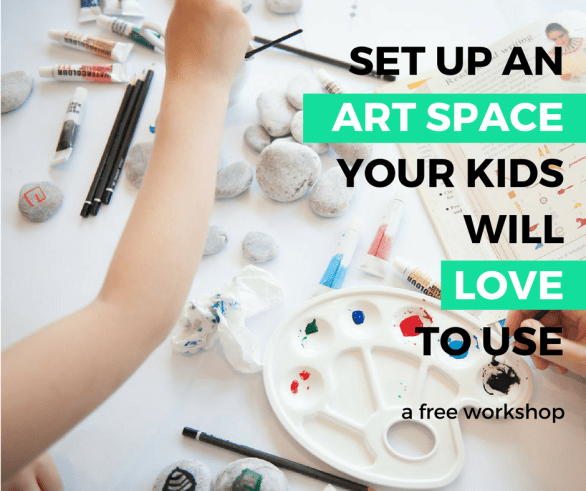 Start Homeschooling Summit free art space workshop