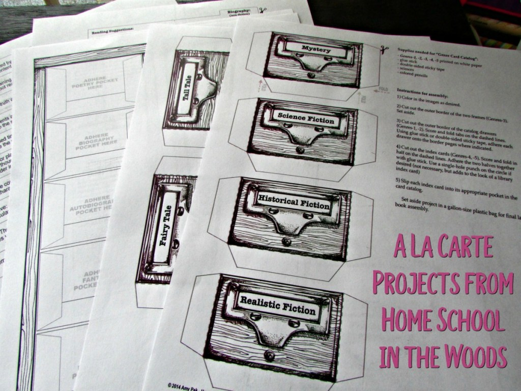 Home School in the Woods A La Carte projects for hands-on homeschooling
