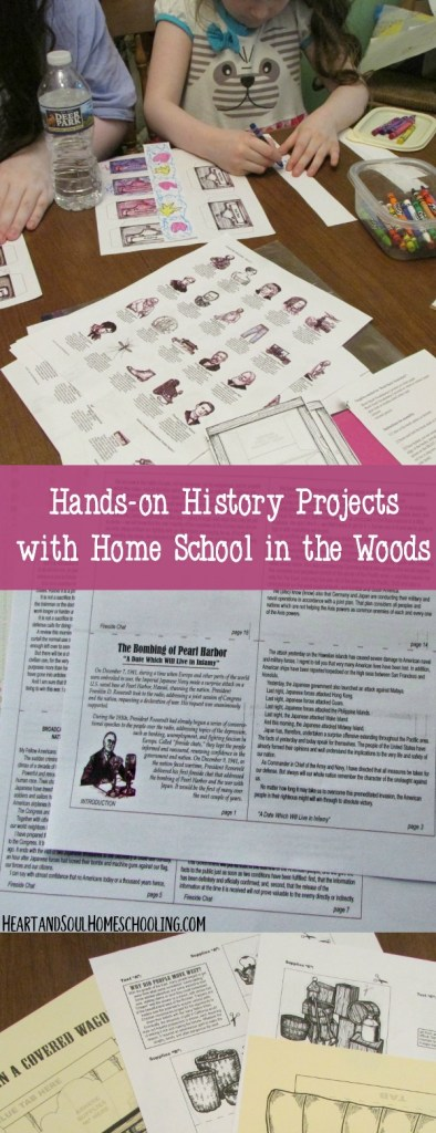 hands-on history projects from Home School in the Woods | lap books | lapbooking | A La Carte Projects | homeschooling