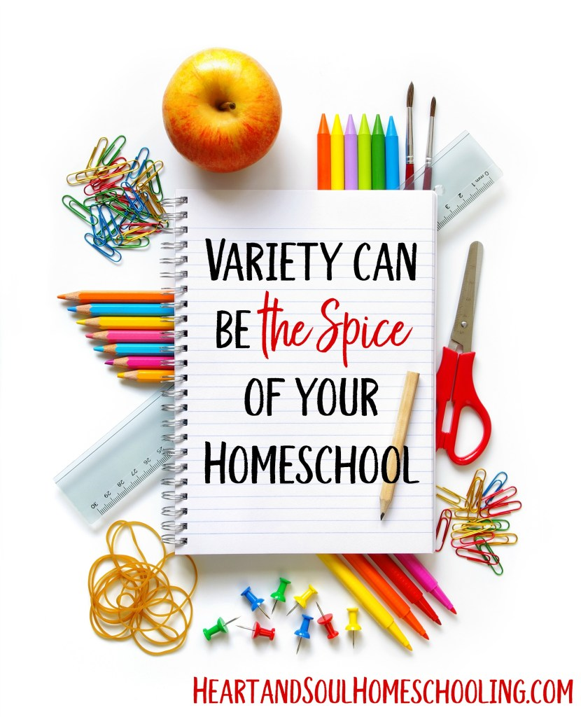Add some variety to your homeschool | variety is the spice of homeschooling | trying different resources and approaches to learning