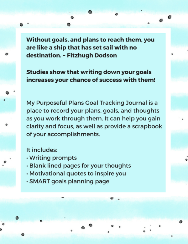 My Purposeful Plans back cover