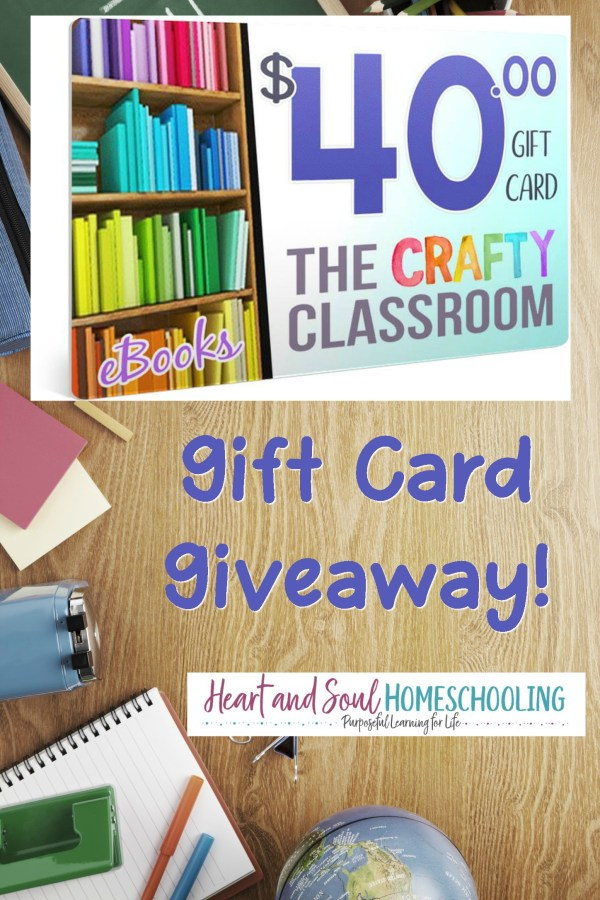 The Crafty Classroom $40 Gift Card Giveaway