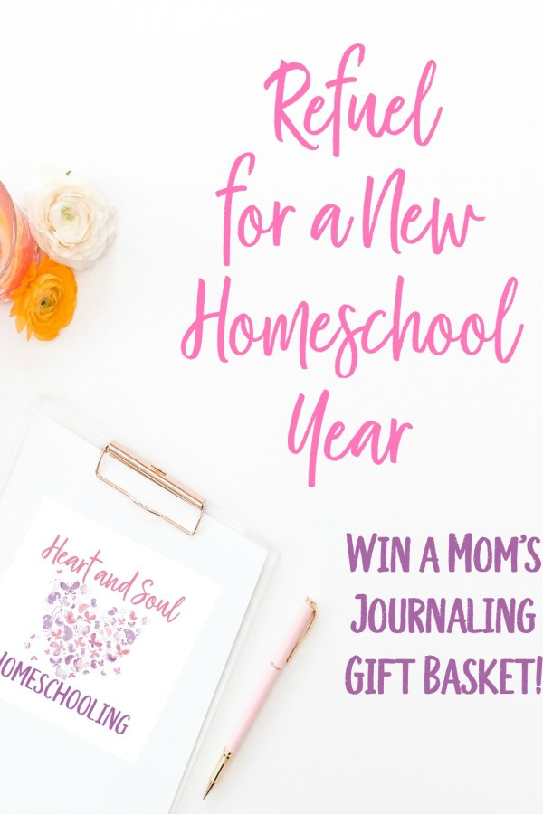 Refuel for a New Homeschool Year with Mom's Journaling Gift Basket