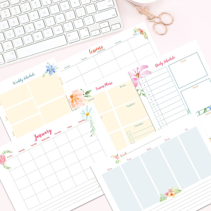 make your own printable planner
