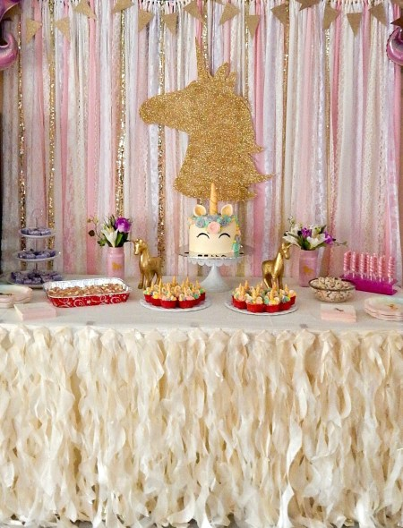 Unicorn Themed Party - Dessert Table