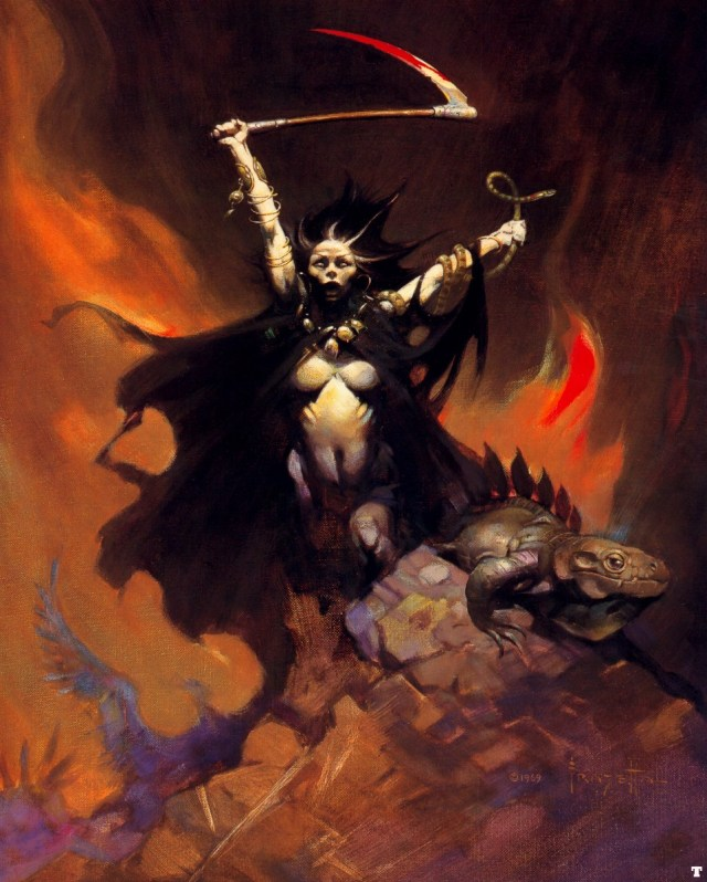 The immaculate art of Frank Frazetta. Scorpio is a feminine sign.