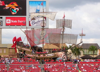 I love this pirate ship in Tampa Bay.