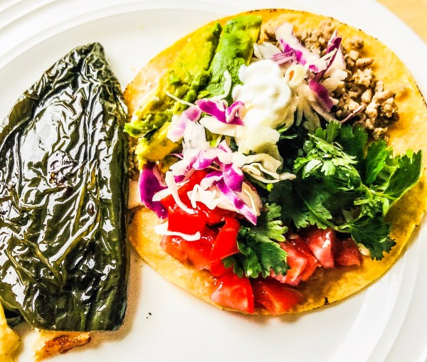 Tostada Tuesday With Roasted Poblano Peppers