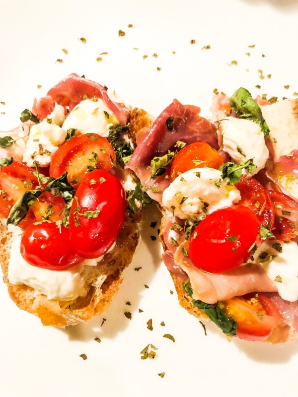 Fall Off (the wagon) Friday With Toasted Prosciutto Caprese