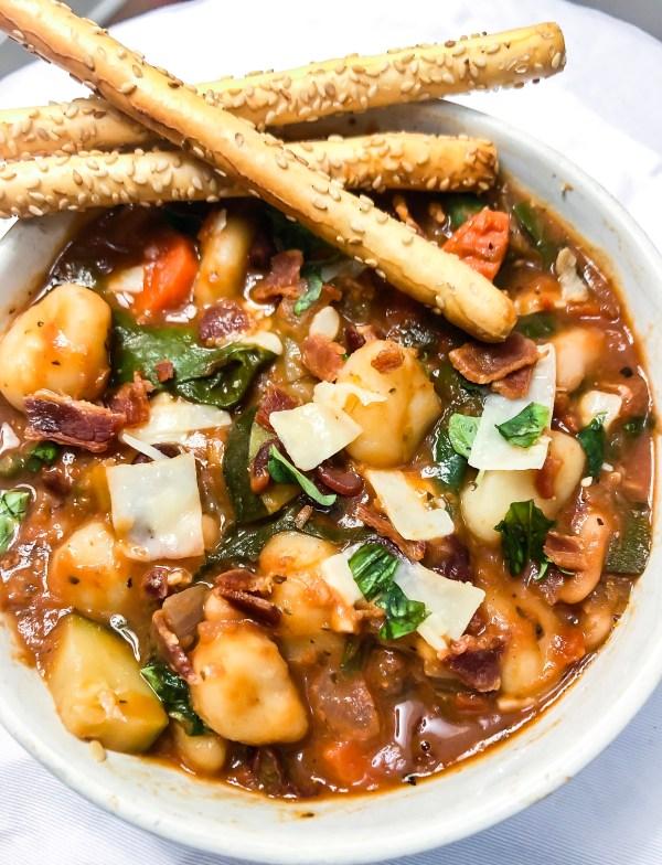Nana's (One Pot) Minestrone with Gnocchi