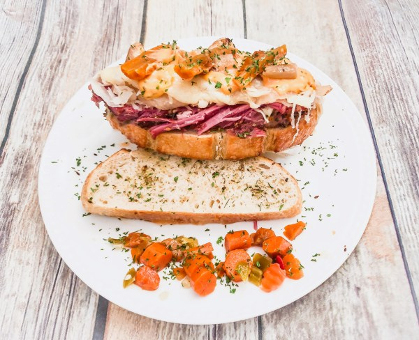 Fall Off (the wagon) Fridays with a Slow Cooker Chicago Style Reuben