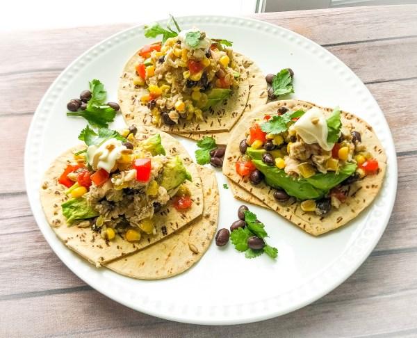 Southwest Tuna Flatbread Sandwich