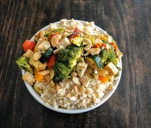 Tofu & Veggie Bulgur Bowl