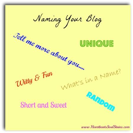 Naming Your Blog