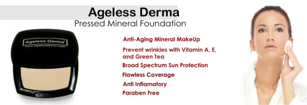 Pressed Mineral foundation by Ageless Derma review