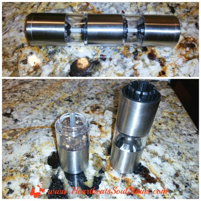 I love our new Fresko duo salt and pepper grinder by Ozeri.