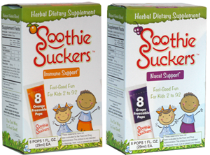Soothie Suckers Herbal Ice Pops are the perfect and safest thing for your sick little one