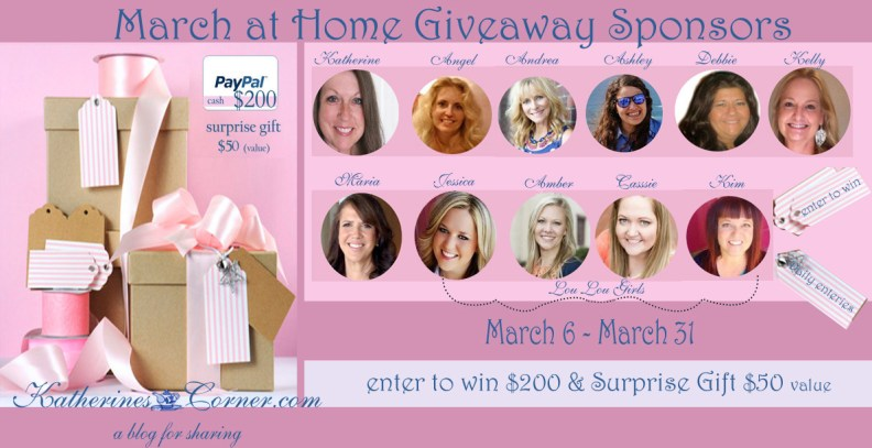 march at home giveaway sponsors -katherines corner