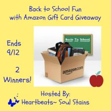 Back to School Fun with Amazon Gift Card Giveaway + Hop