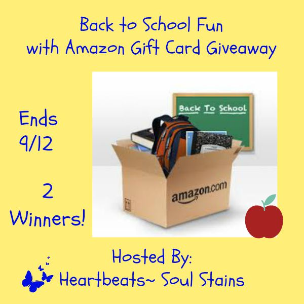 back to school fun with amazon gift card giveaway