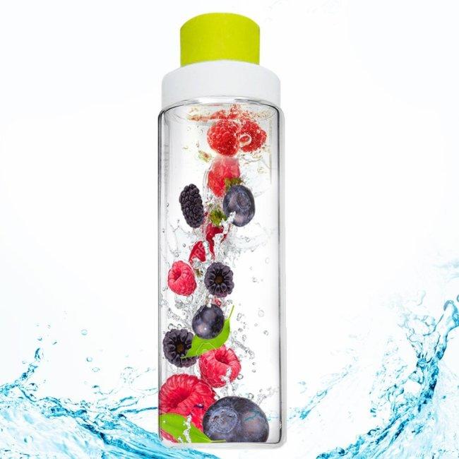 glass infuser water bottle