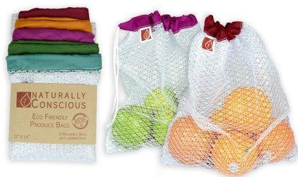 eco friendly see thru washable bags