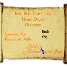 Best Ever Dad's Day Home Depot Giveaway + Hop #FathersDay #FathersDayGifts