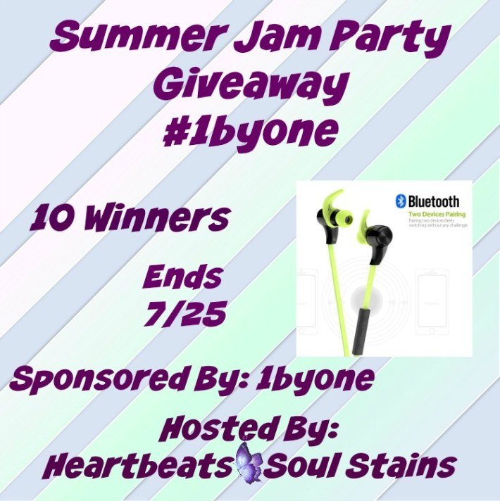 Blogger Opp~ Summer Jam Party Giveaway #1byone