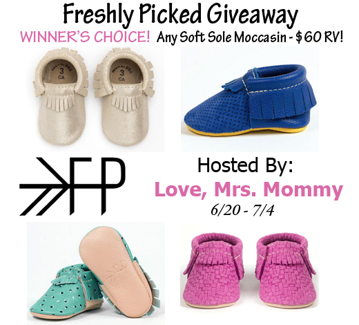Blogger Opp - Winner's Choice of Freshly Picked Moccasins Giveaway