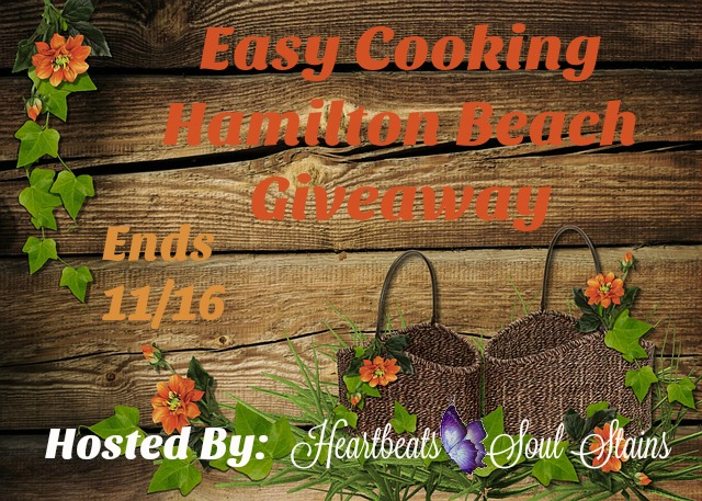 Easy Cooking with Hamilton Beach Giveaway