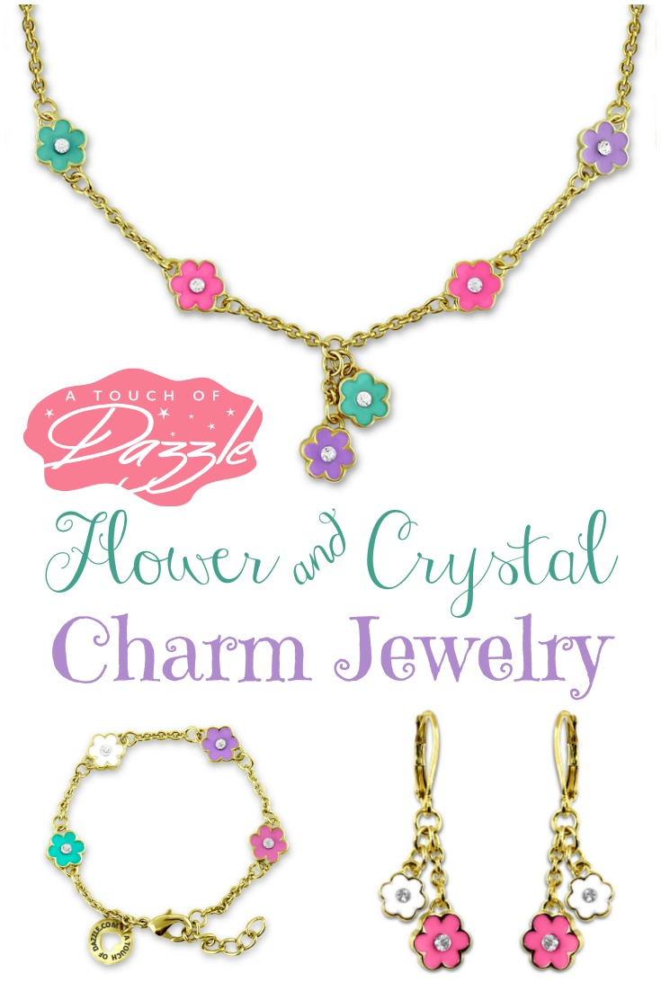 Beautiful Flower Crystal Charm Jewelry from A Touch of Dazzle