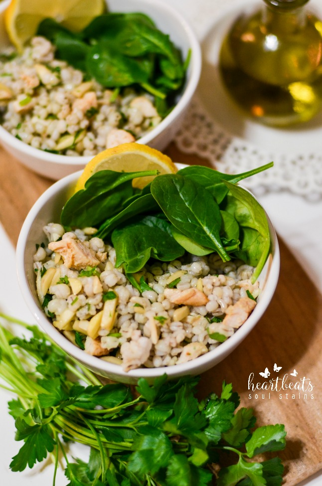 Make our Chicken & Barley Salad Recipe for a great healthy but satisfying meal that everyone will love. This recipe is easy to assemble and full of flavor!