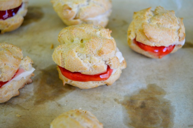How To Make Cream Puffs: Check out our tutorial and recipe for Cherry Vanilla Cream Puffs that everyone will be in awe over when you serve!