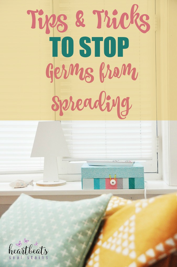 With little ones it's important to stay on top of things in order to Stop Germs From Spreading at Home. Here are some great tips and tricks to help you stay on top of things!