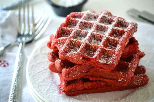 Red Velvet Waffles from What the Fork Food Blog
